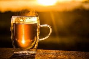 Is Sage a Nootropic - Cup of Sage Tea at Sunset