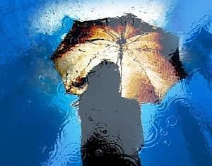 Awakened Alchemy Review - Reflection of Woman Holding Umbrella in Puddle
