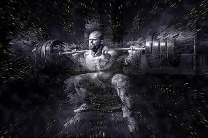 Best Supplement for Energy and Concentration - Body Builder Power Lifting Weights