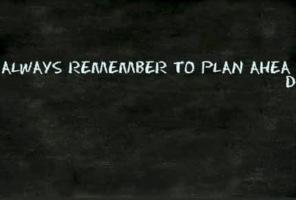 What's the Best Nootropic for Athletes - Chalkboard with Reminder to Plan Ahead