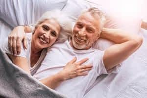 How does CoQ10 Benefit the Brain - Senior Couple in Bed