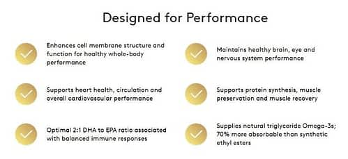 Performance enhancements provided by Performance Lab Omega-3.